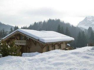 Chalet comtemporain Les Carroz- sauna - acces personne handicapee