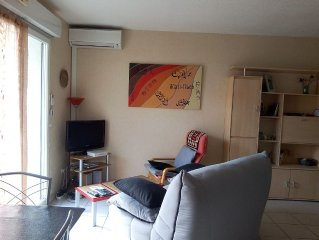 T3 very comfortable, new residence, Narbonne city center, near train station.