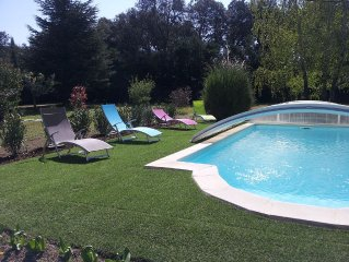 villa entre alpilles luberon piscine privee grand terrain cloture 6pers