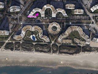 Grande Motte 5-6 pers, 2 mn de la plage, terrasse, Parking privé sécurisé