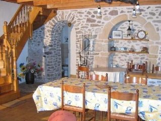 A beautifully restored, traditional breton cottag