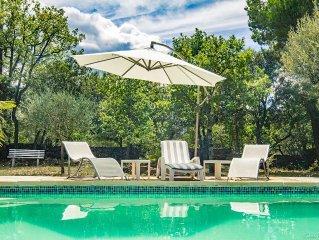 Villa pour 8 personnes avec piscine privee, lieu calme et ombrage