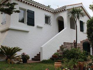Anglet Chiberta, villa d'exception sur le golf à 2 min à pied de la plage.