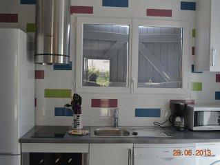 Maison avec jardin confortable et bien équipée, 3 chambres, 50m de la plage