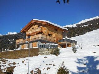 Chalet individuel neuf, vue extraordinaire sur les Alpes