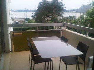 Appartement T2, vue mer, 150m plage et thalasso Benodet, confort, terrasse