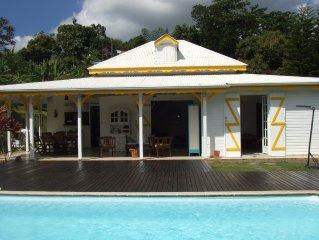 Belle villa créole à Petit-Bourg, au centre de la Guadeloupe.