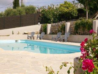 Villa Cannes, piscine et vue