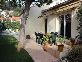 Charmante gd villa Provençale de plain-pied très ensoleillée, calme, proche plag