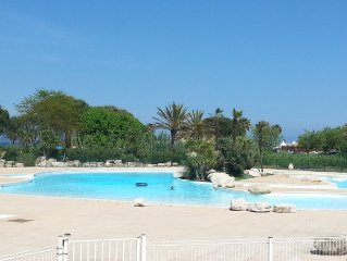Appart 5 pers Golfe ST TROPEZ , piscine dans résidence calme proche de la mer