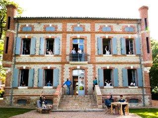Bastide des Tourelles pour 20 personnes à 40mn de Toulouse et Albi