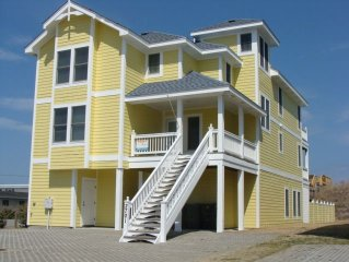 $2000 off 6/17 only Cabana, 8 BR Nags Head Oceanfront, Pool, Elev, Handicap&Dog