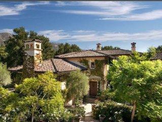 Tuscan Luxury Villa: Gated Private Estate, Heart of Montecito, New pool.