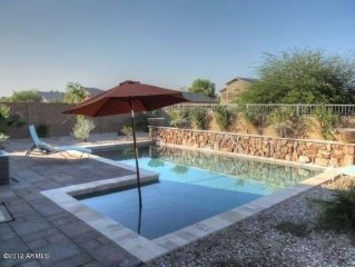 Backyard oasis with beautiful new pool in a private setting! Excellent Reviews!
