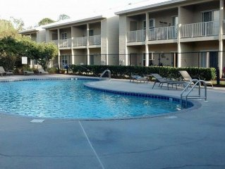 Beautiful Furnished In the Courtyard, Right Beside The Pool On First Floor