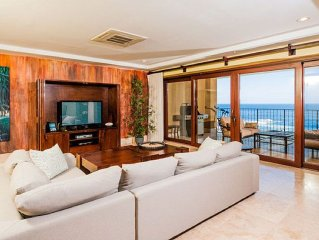 Top Of The World! The Only Oceanfront 4 Bedroom Penthouse On Playa Langosta.