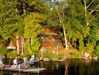 Historic Private Waterfront Camp Located In Adirondack Park, Tupper Lake