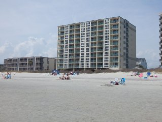 Beautiful 3 Bedroom Beachfront Condo, In Family Friendly North Myrtle Beach