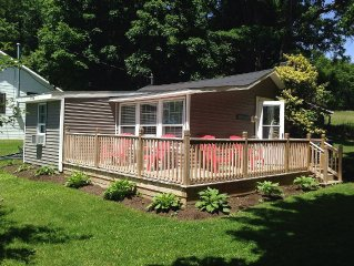 Cozy Lakefront Home on Lamoka With Dock Access, Front Deck & Fire-pit!