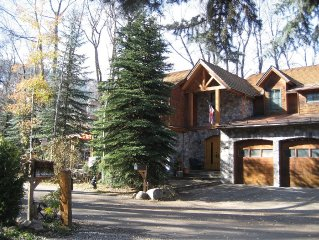 Spectacular Home on the Roaring Fork River with views of Aspen Mtn.