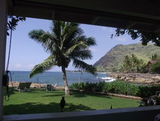 Makaha on the Beach-Back in Time (Direct Oceanfront)