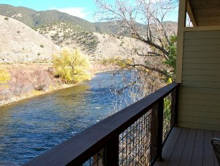 On The River in Downtown With A Hot Tub...Stunning Salida Vacation Rental-2BR/A