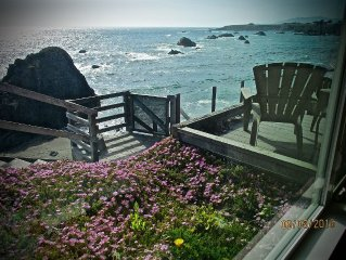 Surfscape Beach House, Bodega Bay, Crashing Surf, Private Stairs,Secluded Beach