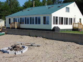 Large Beachfront Family Cottage on Sandy Beach at Colchester Point