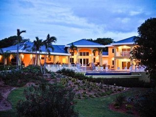 Ocean Front Villa Lush Property with Private Beach and Lagoon