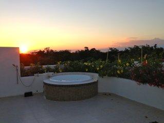 2 Bedroom, 2 Bathroom Penthouse Condo In Aldea Zama, Tulum - Large Private Deck