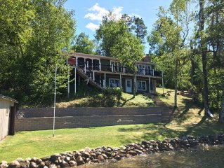 Gull Chain Lake Home with amazing lakeshore...swim, float, fish or ski.