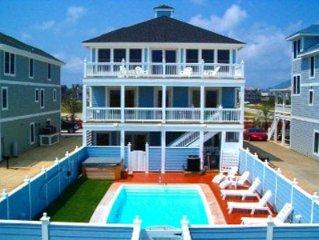 8BR Oceanfront, Pool, Elevator, Hcap friendly/ 2 Dogs