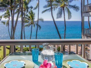 Oceanfront, Palm Trees and the Beautiful Blue Pacific Ocean...Poipu Palms 202!