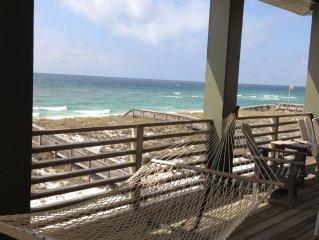OCEANFRONT 4 BR HOUSE, 20 STEPS TO BEACH! 2 HUGE OCEANFRONT DECKS.  RENTING 2019