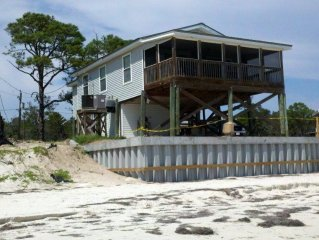 Spectacular Gulf-Front Cottage Located On Beautiful White-Sand Beach