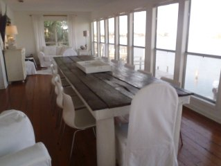 Old world charm not a cookie cutter condo. Deep water 15 feet from back door