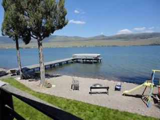 Private Flathead Home with 200' lake frontage.