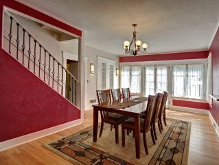 The formal dining room.  Seating for eight.