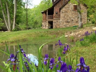 Custom Log Home on River - Beautifully Decorated