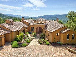 Stunning Hill Top Wine Country Estate - Panoramic Views, Pool, Hot Tub