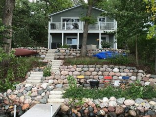 Beautiful Lake House. Swimmable frontage.  Remodeled and very nicely furnished.