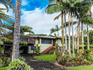 Traditional Home In Hilo's Waterfall District - Stylish, Spacious & Affordable!