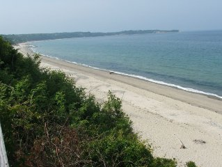 Hi atop Bluffs on private Beach, Breathtaking views of Cape Cod Bay/PTown