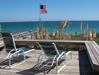 Ocean front private beach house 4 bedrooms. Sleeps 8. Private access to beach