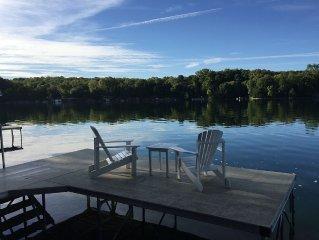 Family Fun on Island Retreat in Crystal Lake Near Road America and PGA Golf