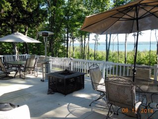By Lake MIch. & Portage Lk Beaches, Great View, Secluded, A/C, Sleeps 19
