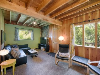 NEW LISTING! Charming Cabin w Hot Tub - Euro Feel Near Lake, Near Winter Sports