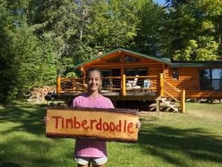 Turtle Lake Vintage Log Cabins - 'Timberdoodle' Cabin - Book Now for 2017!