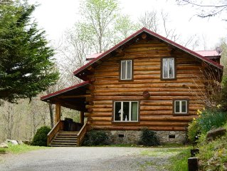Large built with local timber, mountain views, pool table, stocked pond
