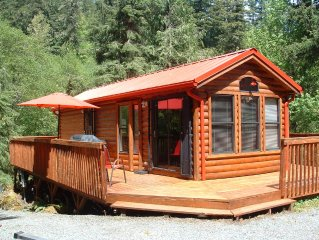 TWO CABINS AND A CABOOSE / Hot Tub